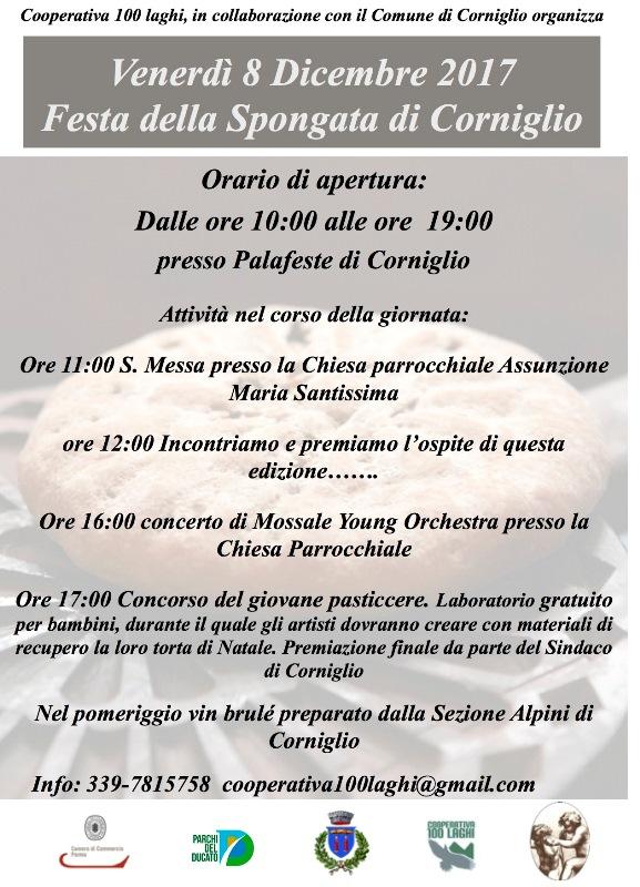 Festa della Spongata 2017 organizzata dalla Cooperativa 100 Laghi, Corniglio
