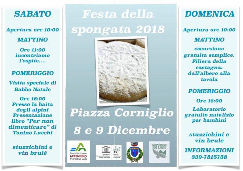 Spongata di Corniglio 2018, evento organizzato dalla Cooperativa 100 Laghi di Corniglio Locandina