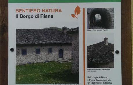 Cartografia sentieri natura a RIana